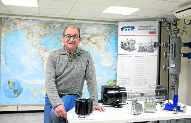 Ricardo Almenara, gerente de Grupo Técnico Rivi, en la sede, en María de Huerva.